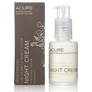 Acure Organics night cream: argan stem cell + 2% chlorella growth factor
