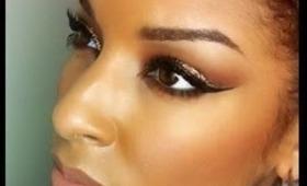 How To: Daytime Bronzy Glitter eyes!