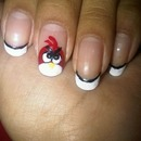 Angry Bird French Tip