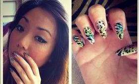 multi animal print nail tutorial