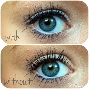 With & without liquid eyeliner :)