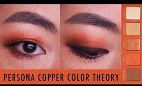 PERSONA COPPER LOOK WITH COLOR THEORY PALETTE FOR ASIAN MONOLID EYES I Futilities And More