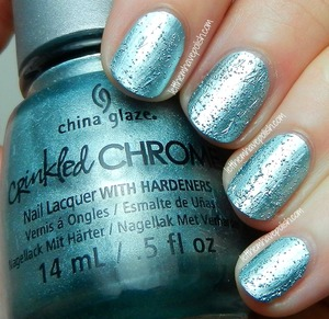 Crinkled Chromes   Details: http://www.letthemhavepolish.com/2014/01/china-glaze-crinkled-chromes-collection.html#more