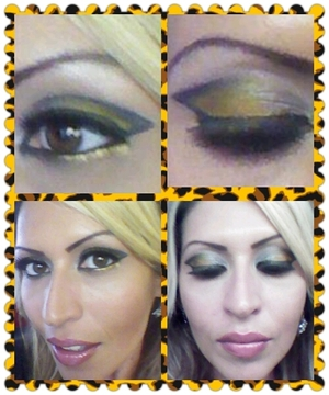 sold is my take on silver and gold! wore this to a job interview for a makeup counter and i sold myself! lol..