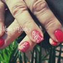 Red Nails/Rose/White Rose/Nails