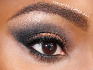 Smokey, shimmery cat eye on my bestie Christen: www.MaryamMaquillage.com