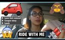 RIDE WITH ME VLOG♡ LASER HAIR REMOVAL, CREEPER & LUNCH | Karren Mitzelle