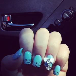 Tiffany and co nails I got done love them