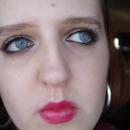 Silver and Purple Smokey eyes and Magenta lips