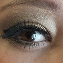 Brown and gold eyeshadow