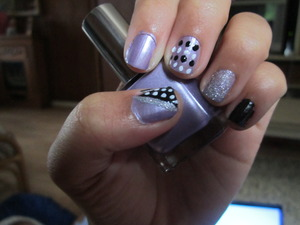 purple, black, white, and silver glitter <3 lovely combination.