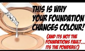 THE REAL REASON YOUR FOUNDATION CHANGES COLOUR AND HOW TO STOP IT!