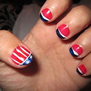 Nails inspired by the American flag—thanks Beauty Jenna G.!