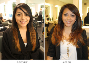 Makeover at Cristophe Salon in Beverly Hills
