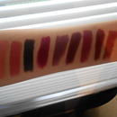 Swatches of my lippies!