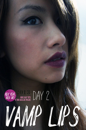 Trying a Vampy Lipstick! :)   Sephora Longwearing matte Lipstick  More of my Beauty Challenges at www.kakabeautyblog.com