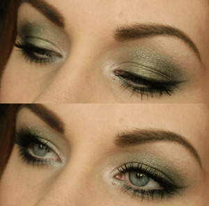 metal mania palette (two green ones and white)