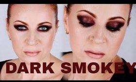 DARK BURGUNDY SMOKEY EYES