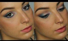 Wearable Blue Eyeshadow Makeup Tutorial ♥