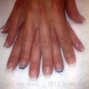 Sculptured French Acrylic Nails