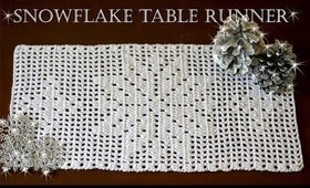 How To Crochet SNOWFLAKE Table Runner | Part 1