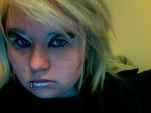 What would it look like if you took what you knew about eye makeup and did the opposite? This.