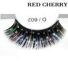 Red Cherry Shimmer & Feather Lashes - D602
