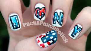 This was a request from a facebook viewer! I love New York and I wish I could go again soon.  http://packapunchpolish.blogspot.com/2012/09/i-heart-ny-nail-art.html