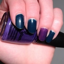 OPI Ski Teal We Drop & China Glaze Grape Juice