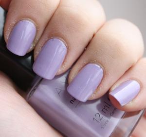Avon Loving Lavender - 2 coats  http://iloveprettycolours.blogspot.com/2012/03/avon-loving-lavender-cute-stamping.html