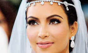 Kim Kardashian's Wedding Day Makeup