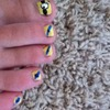 Despicable me minion inspired nails