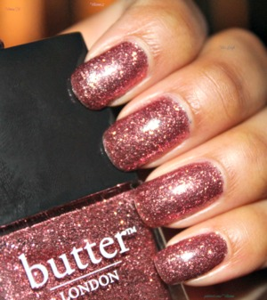 This is two coats of Butter London Rosie Lee.