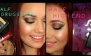 Half Drugstore - Half High End Makeup Tutorial! Collab with Melmphs!