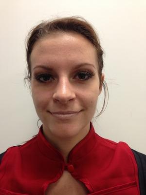 Basic makeup with false lashes