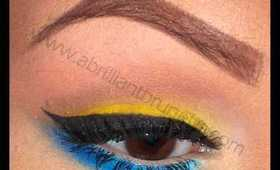 Sugarpill Makeup Tutorial | Bright Yellow and Blue Eyes