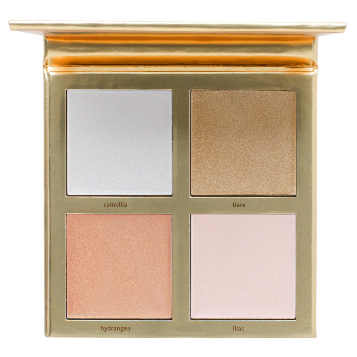 Jouer Cosmetics Lucky & Luminous Creme Highlighter Palette product smear.