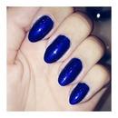 Metallic blue.