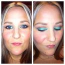 Turquoise sunset eyes