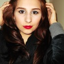 Cat Eye with Red lipstick