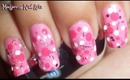 Cutie Pink Polka Dots Nail Art collaboration with MKNails