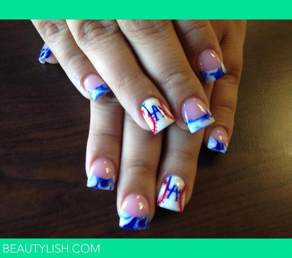 Los Angeles Dodgers Nails. | Nika B.\'s Photo | Beautylish