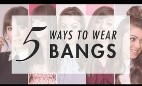 5 Ways To Style Bangs | Luxy Hair ft. Margo&Me
