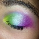 one of my first sorta rainbow looks!