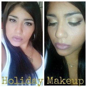 urban decay naked 2 pallet,  la splash gold glitter, maybelline raisin lip liner,  mac blankely