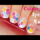 Colorful Spirals Nails
