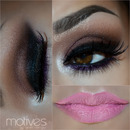 Smokey and pink lips