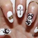 Miley Cyrus Inspired Teddy Bear Nails