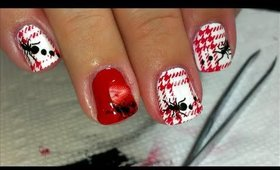 Picnic Ants! - stamped nail art by Soguesswhat11