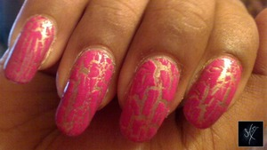 Sally Hansen Salon Effects: Raise A Glass China Glaze: Broken Hearted